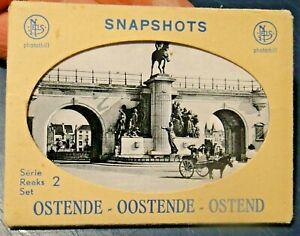 SNAPSHOTS OSTENDE OOSTENDE OSTEND OSTENDA / BELGIO - SET FOTOGRAFIE 1960ca