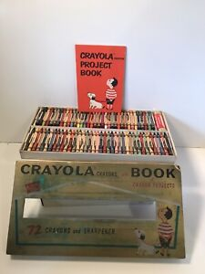 Vtg 1958 Binney & Smith Crayola Crayons Set-Complete w/Box & Book-Retired Colors
