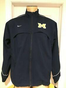 Nike Michigan Wolverines Men's Windbreaker Jacket Medium Blue