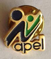 APEL Tiny Pin Badge Rare Vintage Advertising (F9)