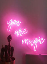 You Are Magic Neon Light Sign Bedroom Decor Man Cave Beer Bar Pub Artwork Glass