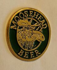 Moosehead Beer Pin - 70's? - Green & Gold