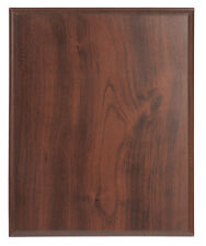 Blank Award Plaque Board 4.25x6 Cherry Finish, Trophy Base