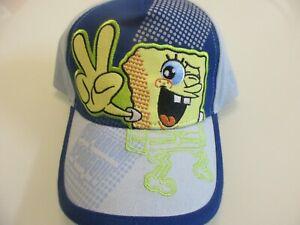 NEW Vintage 2005 Spongebob Squarepants V for VICTORY Sign Boys Baseball Cap Hat