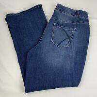 Lane Bryant Bootcut Jeans Women's Size 20 Stretch Dark Wash Tighter Tummy