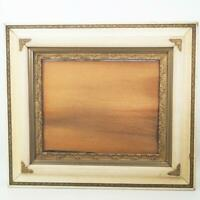 "Vintage 27-1/2""x31"" Painted Gold Wood Ornate Picture Frame for ~ 15""x19"""