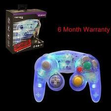 Blue LED RetroLink Gamecube Style USB Controller for PC & Mac