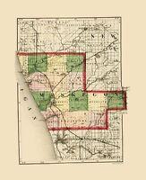 Muskegon County Michigan - Walling 1873 - 23.00 x 28.30