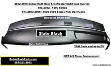 Dodge RAM 02-05 Main & Defroster Plastic DASH Cap Overlay / Slate Black Color