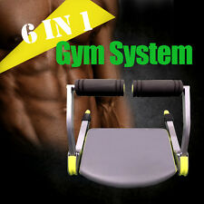 Portable Gym System Ab Fitness 6 in 1 Abdominal Machine six pack core equipment