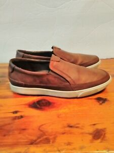 ECCO Collin 2.0 Mens Soft Leather Slip On Casual Loafer Brown Size 41 7-7.5 US