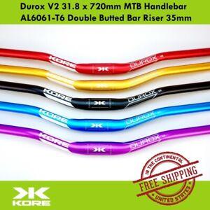 KORE Durox V2 31.8 x 720mm MTB Handlebar AL6061-T6 Double Butted Bar Riser 35mm