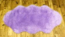 High Quality Soft Fluffy Plain Washable Lilac Colour Faux Fur Sheepskin Rugs Shape 70x137cm
