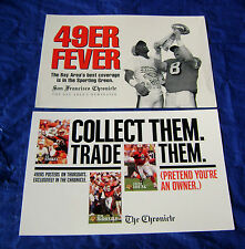 1995 San Francisco 49er Chronicle Newspaper Rack Cards Steve Young & Jerry Rice
