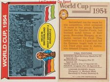 341 GERMANY Vs HUNGARY # ENGLAND WORLD CUP 1954 CARD PREMIER LEAGUE TOPPS 1978