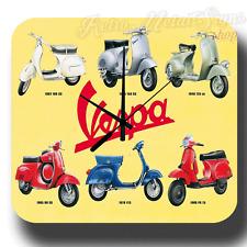 VESPA SCOOTERS VINTAGE  RETRO  METAL TIN SIGN WALL CLOCK
