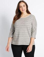 Maglie e camicie da donna in avorio in misto cotone a girocollo