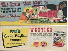 WEETIES AUSTRALIA CEREAL GIVEAWAY PROMO ENID BLYTON TRAIN THAT WENT FAIRYLAND VG