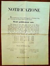G246-GOVERNO PROVVISORIO TOSCANO, FIRENZE, BUONI IPOTECARI DEL TESORO, 1849