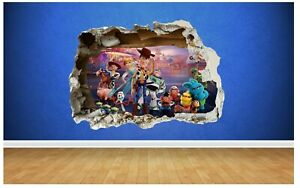 Toy Story Smashed Wall Sticker Size 81cm x 58cm 3D Style Bedroom Boy Girl Vinyl