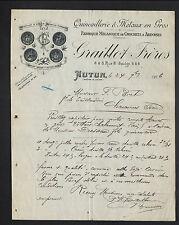 """AUTUN (71) QUINCAILLERIE / CROCHETS à ARDOISES """"GRAILLOT Freres"""" en 1906"""
