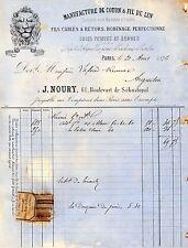 Paris 75 - Manufacture coton & fil de lin machine à coudre - J. Noury 1876