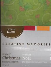 CREATIVE MEMORIES Primary CHRISTMAS DESIGNER PRINTS 12x12 Power Palette 16 sheet