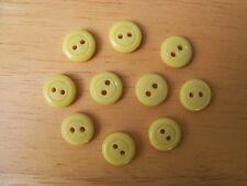 10 YELLOW VINTAGE CIRCLE DESIGN CASEIN SCHWANDA Buttons NOS SEWING CRAFT 11mmx4m