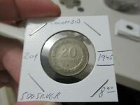 1945 Colombia Silver Coin, 20 Cent Centavo, MORE AUCTIONS TODAY