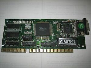 ISA TSENG LABS ET4000AX VGA Video Graphics Array Adapter Card 1024K. Works
