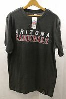 NFL Arizona Cardinals T Shirt Team Apparel Gray Size XL Unisex