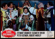 T95 Fotobusta Lord Brummel Stewart Granger Elizabeth Taylor Ustinov Morley 8