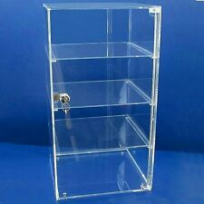 Folding Flat Packed Acrylic Display Lockable Cabinet Box Case Shop Stand Show