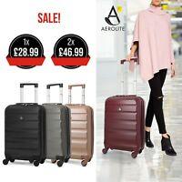 Aerolite Lightweight ABS Hard Shell 4 Wheel Spinner Cabin Hand Luggage Suitcase