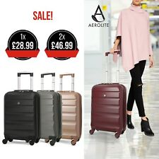 Aerolite Lightweight ABS Hard Shell 4 Wheel Spinner Cabin Hand Luggage Suitcase