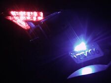 1x White 15 LED SMD Motorcycle Plate License Light Strip 12v Thin Slim Bright