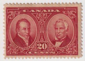 1927 Canada - Baldwin & La Fontaine, Personalities - 20 Cent Stamp