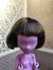 Brown Short Wig Size 5-6 Ever After Monster High Head Barbie Doll