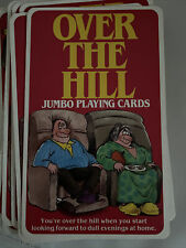 Over the Hill Jumbo 52 Playing Cards Ivory Tower Publishing Gag Gift Preowned