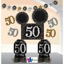 50th Birthday Party Supplies Sparkling ROOM DECORATING Kit Genuine LIC