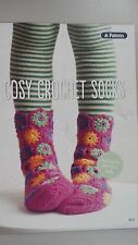 Patons Pattern Book #0019 Cozy Crochet Socks to make in Patonyle Merino 4 Ply