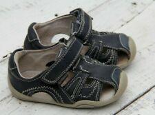 Pediped Baby Boys Size 6-6.5 / EU 22 Dark Blue Walking Shoes Sandals