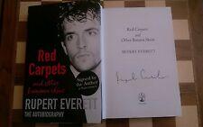 Rojo Alfombras y otros pieles plátano firmado Rupert Everett Tapa Dura autobiografía