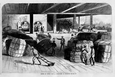 COTTON BUSINESS NEGROES HAULING COTTON BALES FROM SHED AT SAVANNAH TO RIVERBOATS