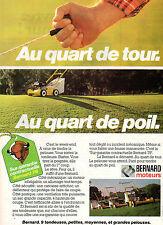 Publicité 1979  BERNARD moteurs  Tondeuses à gazon