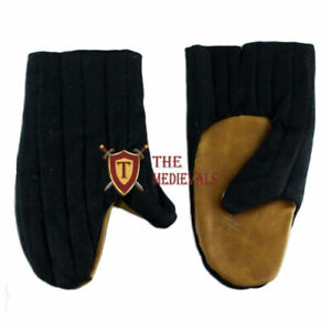 Medieval Gambeson Cotton Gloves SCA costume armor