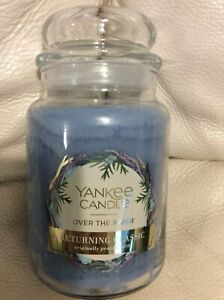 Yankee Candle Over the River Large Jar 22oz NEW!  Returning Classic Blue