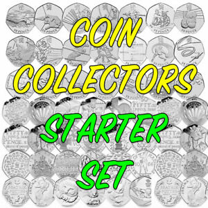 50p Coin Collectors Starter Set - 50ps - COIN HUNT Bundle - FREE UK SHIPPING