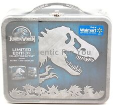 2015 Jurassic World Blu-ray DVD Digital Limited Edition Steel Lunchbox GiftSet