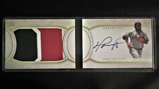 2018 Topps Definitive David Ortiz  Auto Jersey Patch Card #1/5 Red Sox Nice!